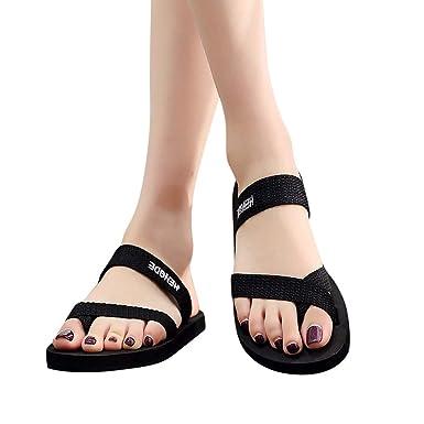70ad44276 Goldweather Women Flats Flip Flops Ladies Summer Beach Thong Sandals Thongs Toe  Ring Strappy Slip-