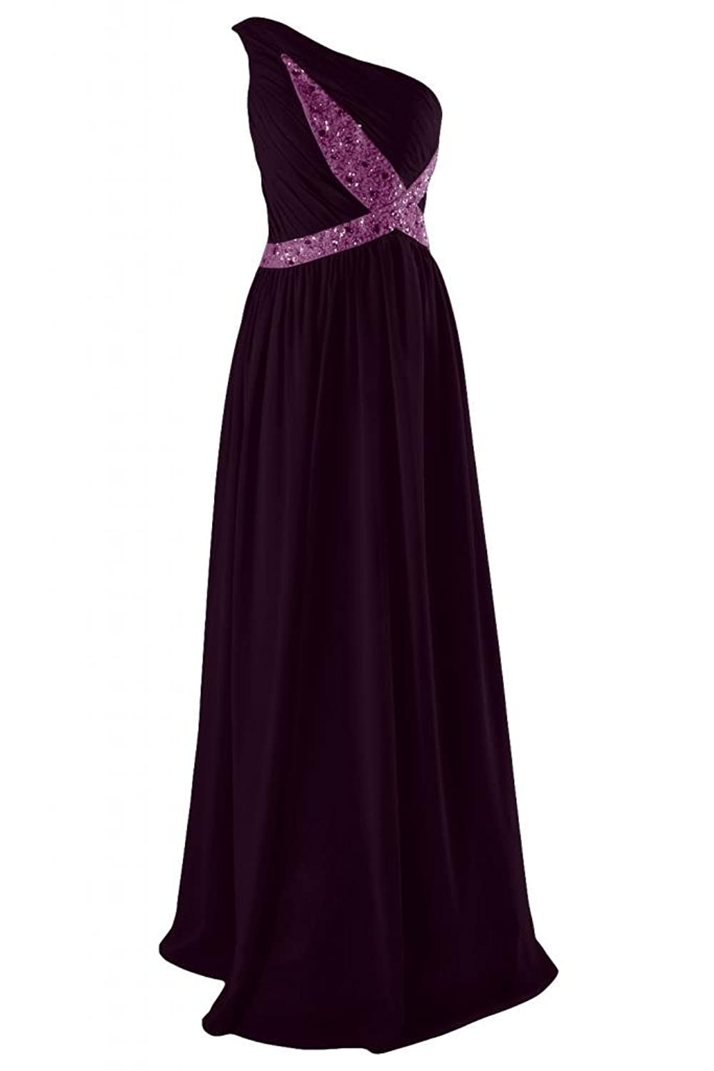 Sunvary Romantic One-shoulder Plus Size Party Dress Prom Pageant Gowns Maxi Evening Dresses