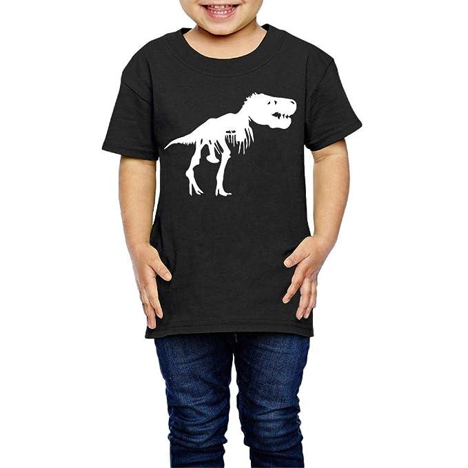 42cb6a563 T Rex Skeleton Dinosaur Novelty Kids Boys Girls Crewneck Short Sleeve Shirt  Tee Jersey for 2