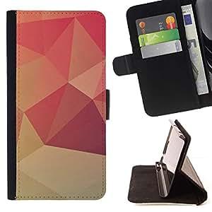 For Samsung Galaxy Note 3 III Case , Diseño Polgon Naranja- la tarjeta de Crédito Slots PU Funda de cuero Monedero caso cubierta de piel