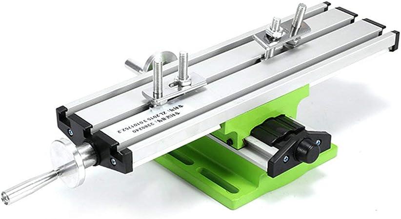 Vinkent 6300 Mini Mesa de Trabajo multifunción de precisión Accesorio de Tornillo de Banco Fresadora Fresadora Mesa de coordenadas de Ajuste de Eje X e Y: Amazon.es: Hogar