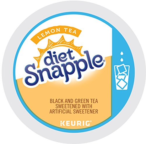 Snapple Diet Lemon Iced Tea, Keurig K-Cups, 12 Count (Pack of 6) (Packaging May Vary)