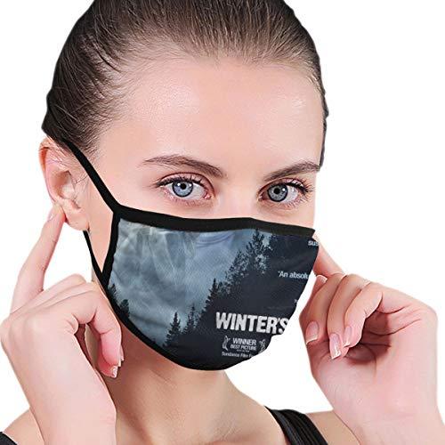 NA Black Trendy Winter Mouth Mask Mask One Size Winter's Bone