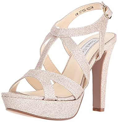 Touch Ups Women's Queenie Platform Dress Sandal, Champagne, 5 M US