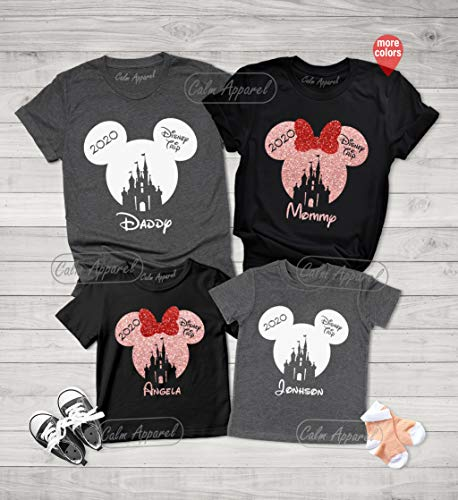 Minnie Mouse Custom Shirts (Custom Family Vacation Shirts, Minnie Mickey Mouse Tank Tops, Women Men Youth Matching)