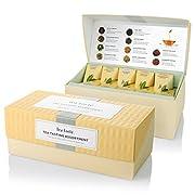 Amazon #LightningDeal 75% claimed: Tea Forte Presentation Box Sampler with 20 Handcrafted Pyramid Tea Infusers - Black Tea, White Tea, Green Tea, Herbal Tea
