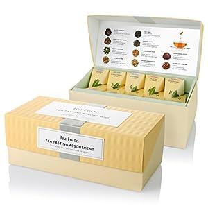 Tea Forte Presentation Box Sampler with 20 Handcrafted Pyramid Tea Infusers - Black Tea, White Tea, Green Tea, Herbal Tea