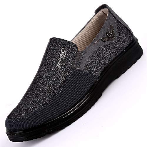 no Grandes los de Hombres Color EU Alpargatas Ocasionales Gris tamaño de Suela Hombres Gris deslizantes Blanda los 47 de Tela de Fuxitoggo Viejos para Pekín Zapatos cómodos la vwqaUazY