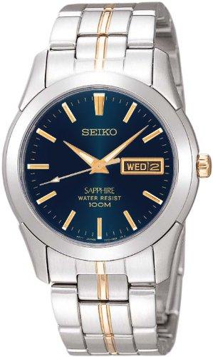 Seiko-SGGA61-P1-Silver-Tone-Dark-Blue-Dial-Mens-Analog-Quartz-Watch