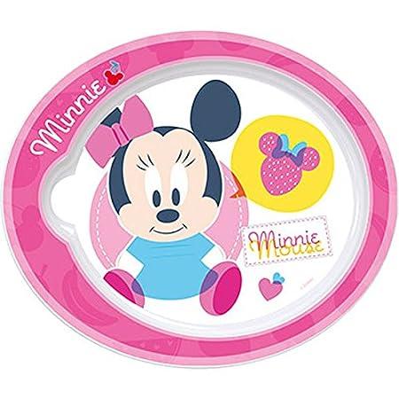 Minnie-- Plato llano 22 cm, bebé Baby especial para microondas ...