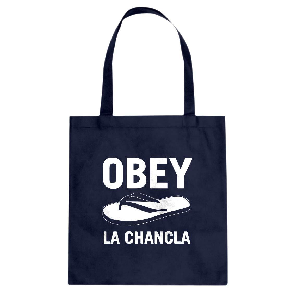 Indica Plateau Obey La Chancla Cotton Canvas Tote Bag