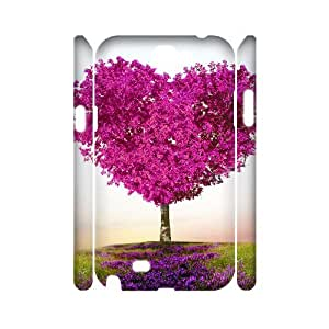 Y-M-D Super Cool With Love Heart 3D Plastic Phone Case Back Cover Samsung Galaxy Note II 2 N7100