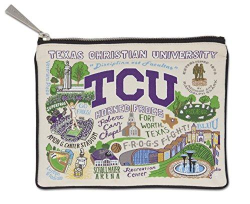 Catstudio Texas Christian University Zip Pouch | Use as Wallet, Clutch, Handbag or Makeup Bag (Christian Texas University)