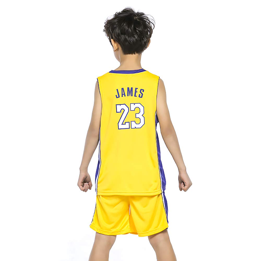 ab7071e08 James Jersey Children s Basketball Uniform Kid Suit T-Shirt Lakers Shorts  Suitable for Child Aged 8-15 Boys Girls
