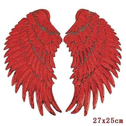 Shoppy Star Pulaqi - Parches de Lentejuelas para Mujer, diseño de alas de ángel,