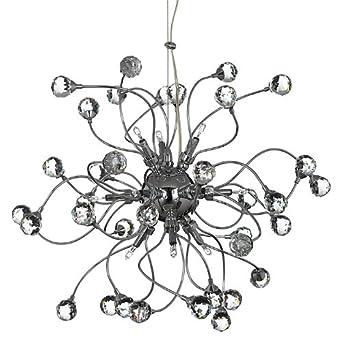 Ex john lewis nebula 12 light clear chandelier ceiling light chrome ex john lewis nebula 12 light clear chandelier ceiling light chrome amazon lighting aloadofball Images