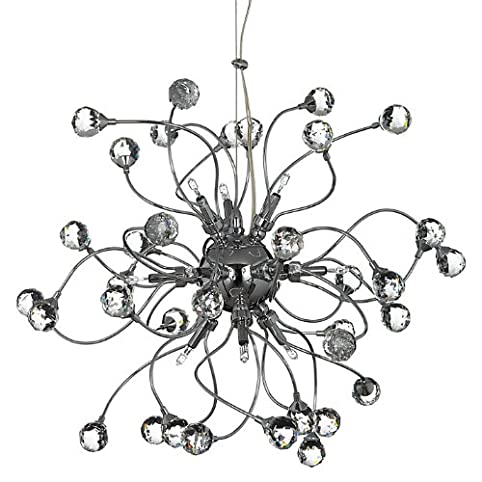 Ex john lewis nebula 12 light clear chandelier ceiling light ex john lewis nebula 12 light clear chandelier ceiling light chrome mozeypictures Gallery