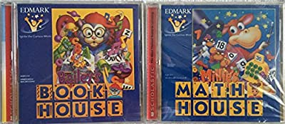 Bundle of 2 CD-Rom Children's Educational Software by Edmark: Bailey's Book House ~ Millie's Math House