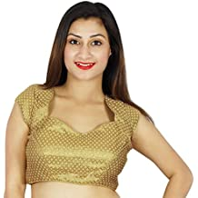 Stitched Blouse Weaving Party Wedding Wear Ready-Made Indian Crop Top