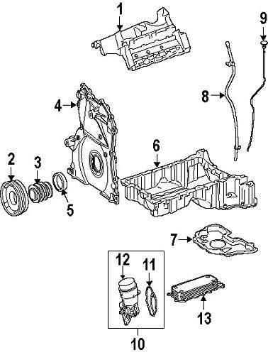 Mercedes-Benz 642 180 01 65, Engine Oil Cooler (Cooler Oil Mercedes)