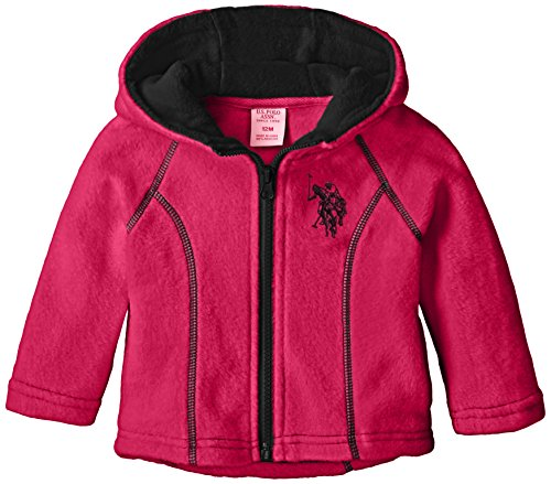 U.S. Polo Assn. Baby Girls' High/Low Hem Polar Fleece Jacket