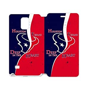 RAROFU Football Sports HoustonTexans Custom Cover Case for SamSung Galaxy Note4