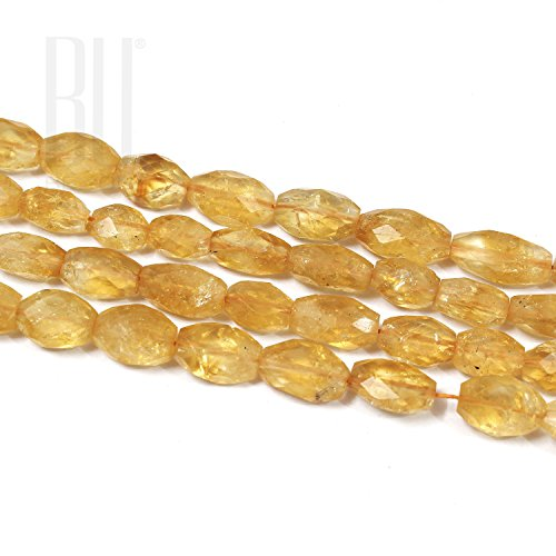 (Be You Golden Color Natural African Citrine Gemstone Faceted Oval Beads 2 Line Loose 13 inch Strand)
