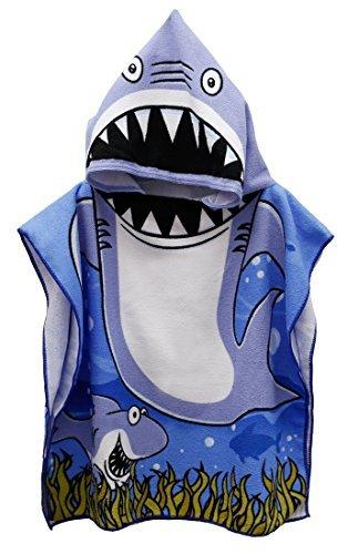 Enjoy Holiday Toddler Hooded Beach Bath Towel – Shark Soft Swim Pool Coverup Poncho Cape Boys Kids Children, 5 Year Old Bath Robe … by Enjoy Holiday