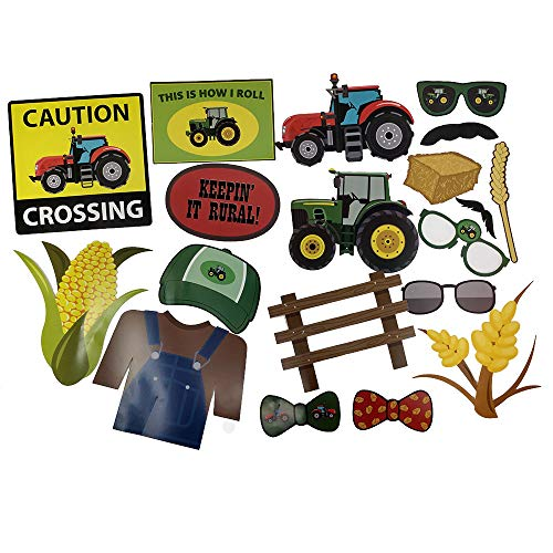 Tractor Party Photo Props (32 Pieces) for Photo
