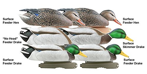 Greenhead Gear Pro-Grade Duck Decoy,January Mallard/Feeder Pack,1/2 Dozen