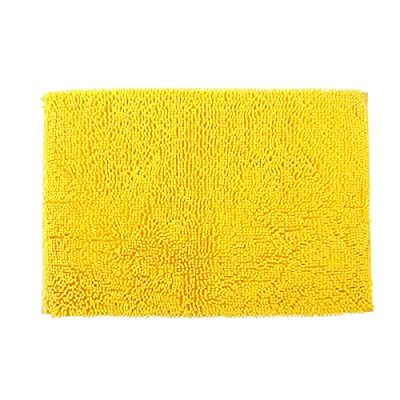 famibay Chenille Microfiber Bathroom Mats Soft Shaggy Bath Mat Non Skid Washable Bath Rugs Non Slip Bathroom Area Rug Water Absorbent Carpet with Adhesive Back Yellow, 23.6x35.4 Inches - Materials: 100% super soft & shaggy chenille microfiber bath rug. This mat is crafted from thousands of long thick and velvety microfiber chenille. Provide the comfort and perfect feeling to your feet. It's also the best gift to your pets. Large Size and Multicolor: The Famibay bath mat has lager size 23.6 X 35.4 Inch. 4 colors which are perfect for a variety of occasions: bathrooms, toilet, shower, floor, kitchen. Super Absorbent: High Density and plushness microfiber have the super absorbent water after shower. The water which held in the mat will dry quickly, keeping away from any mildew or moldy, make your bathroom for maximum clean and refreshing. - bathroom-linens, bathroom, bath-mats - 515rH9EUp0L. SS400  -