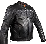 Dream Men's Motorcycle Riding Blk Reflective Skull