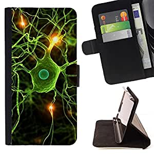 Momo Phone Case / Flip Funda de Cuero Case Cover - Neural Cerebro Ciencia Biología - Huawei Ascend P8 (Not for P8 Lite)