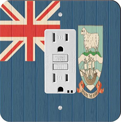 (Rikki Knight 8708 GFI Single Falkland Islands Flag On Distressed Wood Design Light Switch Plate)