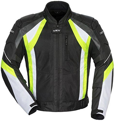Rocket Suzuki Textile Joe (Cortech VRX Air Jacket (LARGE) (BLACK/HI-VIZ/WHITE))