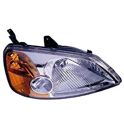 Depo 317-1119R-AS Honda Civic Passenger Side Replacement Headlight Assembly: Automotive