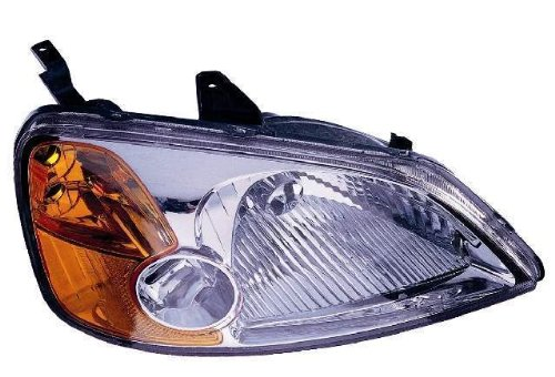Depo 317-1119R-AS Honda Civic Passenger Side Replacement Headlight (Passenger Side Headlight Assembly Coupe)