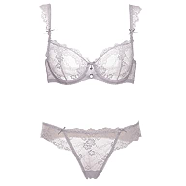 00dad5c249 European and American Ultra-Thin Underwear Without sponges Transparent Sexy  Underwear Breathable lace Bra Suit Put Underwear Large Size Thin Bra Female