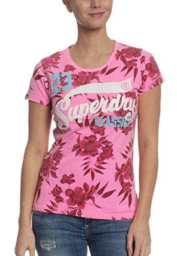 "Top–Camiseta de mujer Rocker overdyed AOP té "", rosa, extra-small rosa"