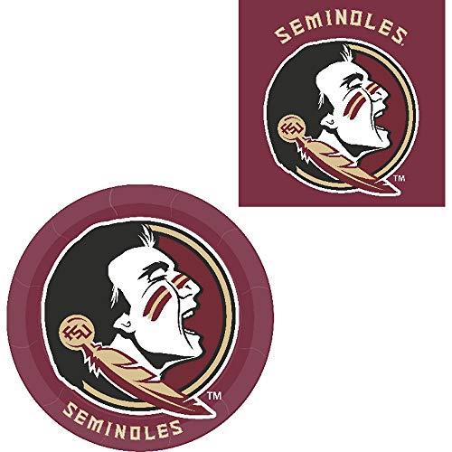 Westrick Florida State Seminoles Napkins & Plates - 64 Pieces (Serves 32) -