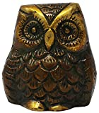 Brass Owl Show Pieces for Home Decor Religious Statue -Height 2 Inches