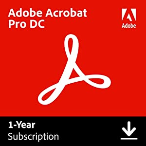 Adobe Acrobat Pro DC | PDF converter | 12-month Subscription with auto-renewal, PC/Mac