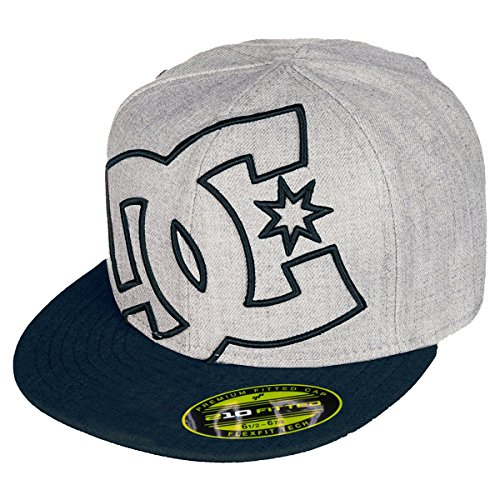 DC Boys Ya Heard 2 Flexfit Hat/Cap One Size Dark Indigo/Heather (Dc Wool Cap)