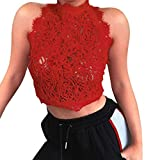 Tank Tops, FORUU Womens Ladies Lace Sexy Crop Summer Party Vest Cami Nightclub