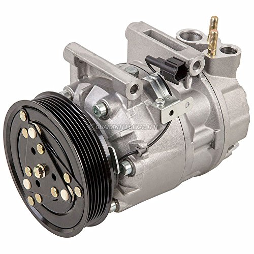AC Compressor & 6-Groove A/C Clutch For Nissan X-Trail 2005 2006 Replaces CWV615M - BuyAutoParts 60-03155NA NEW ()