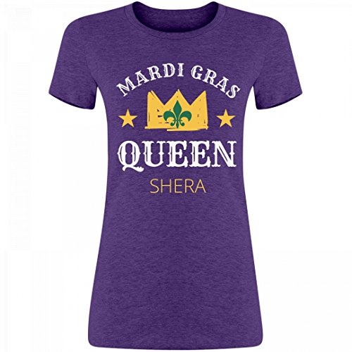 [New Orleans Mardi Gras Queen Shera: Junior Fit Bella Triblend T-Shirt] (She Ra Outfit)