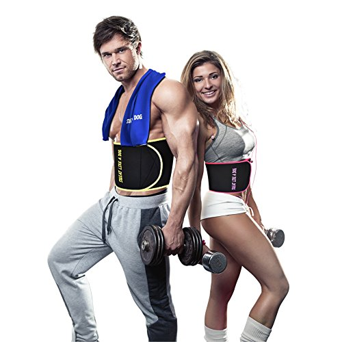 Waist Trimmer Belt for Men and Women,Neoprene Sweat Stomach Wrap Bundled with Cooling Towel. XIANGYI.