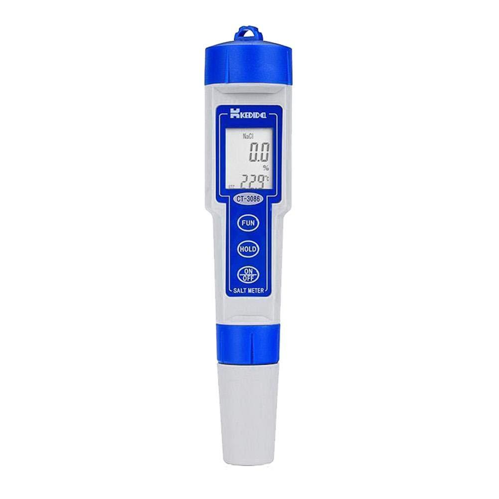 Matefield Waterproof Portable LCD Digital Salinity Tester Salinometer Moisture Meters