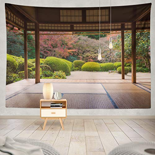 - KJONG Beautiful Nature Colourful Tree Leaves Japanese Zen Garden Autumn Season Kyoto Japan Japanese Nature Asia Asian Decorative Tapestry,60X80 Inches Wall Hanging Tapestry for Bedroom Living Room