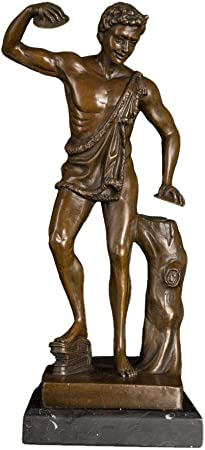 QIBAJIU Esculturas Y Estatuas De Jardín Escultura Decorativa Bronce Famoso Griego Mito Dios Estatua Escultura Cobre Estatuilla para Decoración: Amazon.es: Hogar